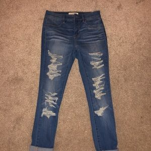 Pacsun high waisted ripped skinny jeans